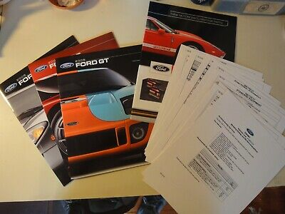 2006 Ford GT Sales Literature - RARE 3 NEW OEM Brochures SEALED Never Opened
