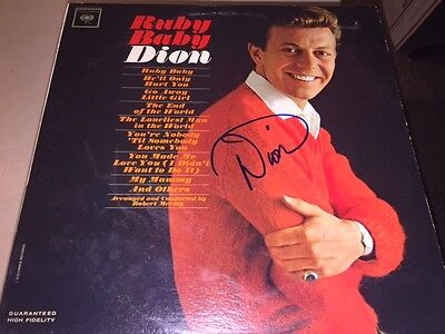Amazing DION Signed Autographed RUBY BABY Album LP