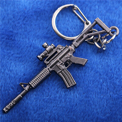 6.5CM M4A1 Keychain Mini Metal Weapon Model KeyRing Cross Fire CF Assault Rifles