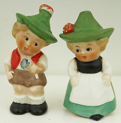 GOEBEL Salt and Pepper Shakers Set Girl Boy 1970s Kitchenalia Collectable