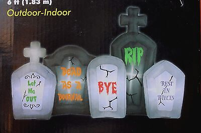 Airblown Inflatable 6 Ft Tombstone Cemetery Halloween Yard Decor Decoration
