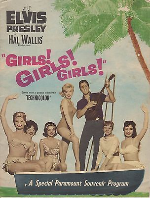 "Original Elvis Presley ""GIRLS! GIRLS! GIRLS!"" Paramount Souvenir Program"