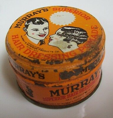 VINTAGE SMALL 1930's MURRAY'S SUPERIOR POMADE TIN