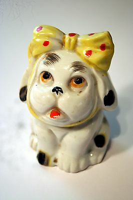 Vintage Ceramic Dog with a Toothache Bank from Japan - Old and Rare