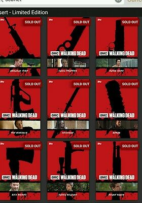 Topps walking dead scarlet armory set with daryl award