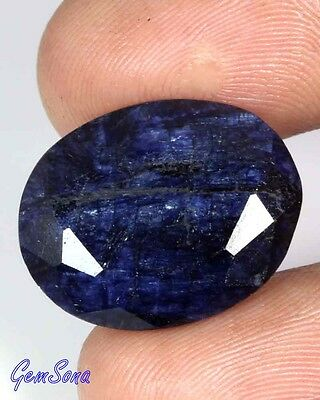 28 Cts NATURAL BLUE SAPPHIRE OVAL CUT LOOSE GEMSTONE AFRICA