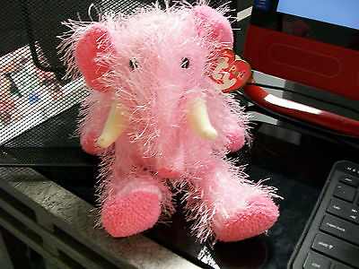 Pipsqueak Punkies Ty Pink Cute Toy Elephant Mammoth Prehistoric Toy Doll