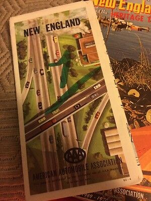 Lot Of 2 Vintage New England  Maps