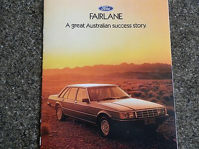 1983 Ford Fairlane Zk Sales Brochure 100% Guarantee.