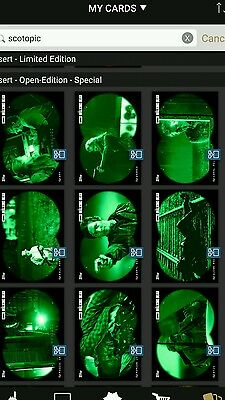 Topps walking dead green night vision scotopic set with beth award.