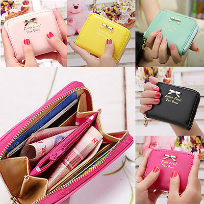 Womens Wallet Leather Zip Coin Purse Clutch Handbag Small Mini Card Holder Cute
