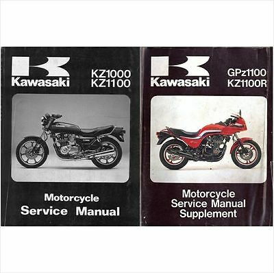 1983-1984-1985 Kawasaki GPz1100 / KZ1100R Service Manual on a CD