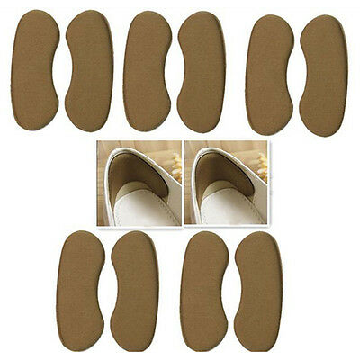 5 Pair Extra Sticky Fabric Shoe Heel Inserts Insoles Pads Cushion Grips Strong #
