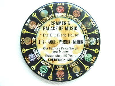 """Antique Advertising Pocket Mirror """"Cramer`s Palace of Music"""" Frederick Md"""