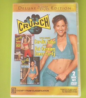 Dvd - Deluxe Edition Crunch Cardio Salsa & Fat Burning Dance Party 2 X Disc