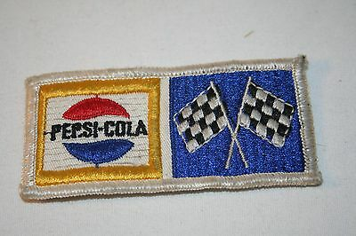 Vintage Embroidered Pepsi Cola Patch w/Emblem and Checkered Flags