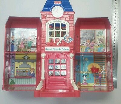 Fisher Price miniature Sweet Streets Loving Family toy doll house mini school