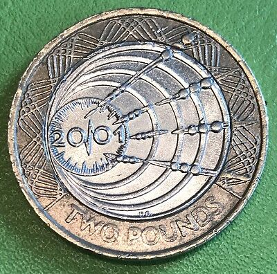 £2 Two Pound Coin Celebrating the 100th Anniversary of Marconi 2001