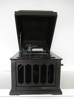 Edison Amberola Phonograph Table Top Model With Inside Horn