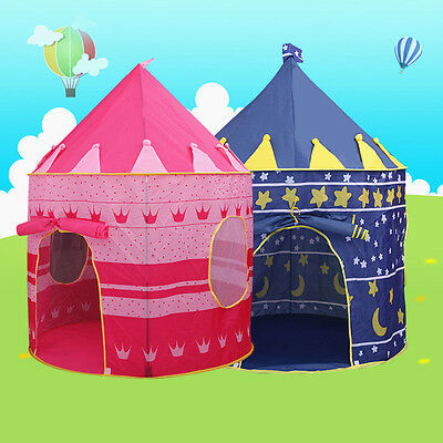 New Kids Children Pop UP Princess Castle Tent Game Playhouse Girl Fairy Tale AU
