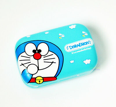 Super Cute For Doraemon PU Leather Eye Contacts Lens Box Case Gifts