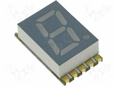 1 pc Display: LED; SMD; 7-segment; 5.08mm; red; 8-30mcd; anode; No.char:1