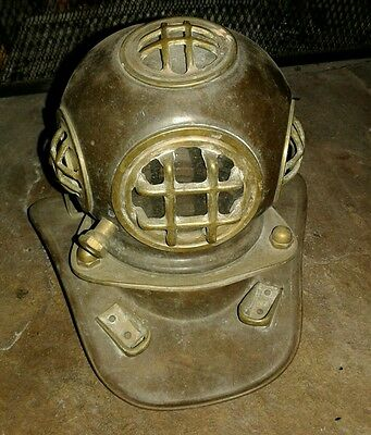 United States Naving Diving Helmet (Salesman Sample) 1940's - Brass