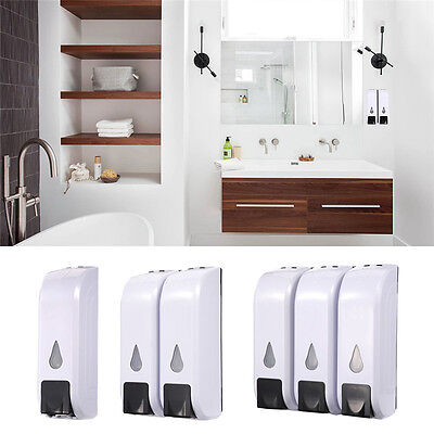 Wall Mounted Soap Dispenser Toilet Shower Gel Shampoo Lotion Conditioner 350M