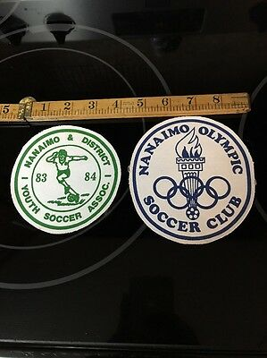 Vintage Nanaimo & District Olympic Soccer Association Patch Badge 1983 1984