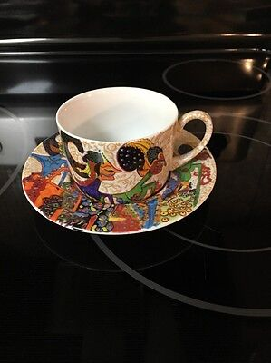 PACITO ABAD amazing Colourful Cup And Saucer