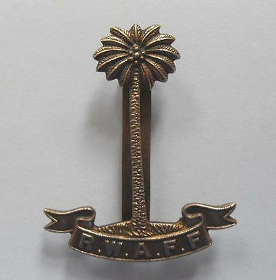 Army Cap Badge. Royal West African Frontier Force. ( Rwaff. )