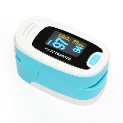 US Finger Fingertip Blood Oxygen Meter SPO2 OLED Pulse Heart Rate Monitor,Pouch。