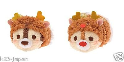 Now On Sale Disney Store JAPAN TSUM TSUM 2016 Christmas Chip & Dale