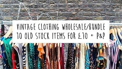 VINTAGE clothing bundle/joblot: choose ANY 10 old stock items for £10 plus P&P
