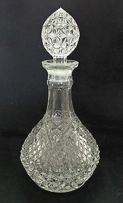 New, Cut Glass Whiskey Decanter With Stopper, 30Cm Tall.