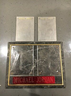 Michael Jordan Trading Card Display Plaque And Cases