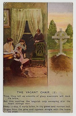 "POSTCARD - Bamforth Song Card ""The Vacant Chair (3)"" sentimental theme #4797/3"