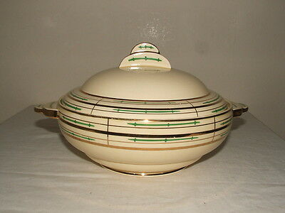 Clarice Cliff Art Deco Abstract Design Lidded Tureen  Truly Stunning