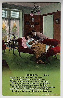 "POSTCARD - Bamforth Song Card ""Goodbye (2)"" sentimental love death theme #4637/2"