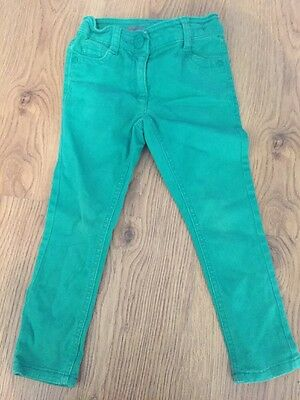 Next Girls Green Chino Skinny Jeans Spring Summer 3 Years