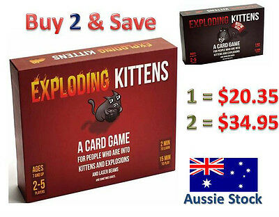 NEW Exploding Kittens CARD GAME - ORIGINAL & NSFW Edition - OZ Edition