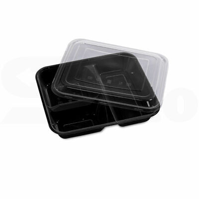 10 x Reusable container take away BENTO Lunch Box Microwave Safe 1000ml