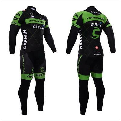 Cannondale Cycling Clothing Jersey & Pants Kit Sets Coolmax Padding