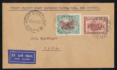Papua : 1935 First Flight cover Moresby Ioma Lakatoi. AAMC P86, ONLY 95 FLOWN