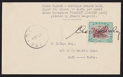 Papua : 1935 First Flight Cover Oroville-Daru Lakatoi signed ONLY 117 FLOWN !