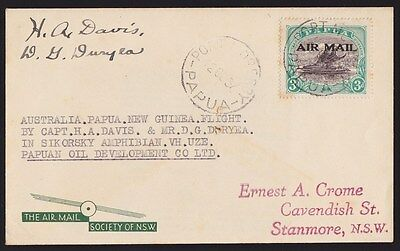 Papua :1937 First Flight Cover Sydney-Papua Lakatoi signed ONLY 12 FLOWN RARITY!