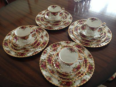 Royal Albert Old Country Roses 20 Pc England 1st-Quality