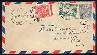 AUSTRALIA : 1930 Camooweal-Daly Waters First Flight cover. SCARCE!