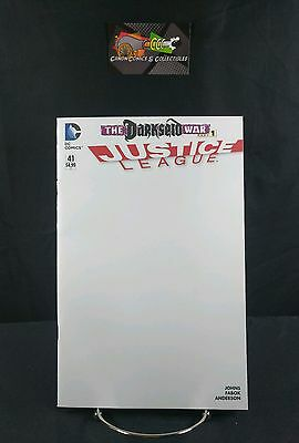 Justice League 41 Blank Variant Sketch Cover DC Comics Darkseid War 2015 New 52
