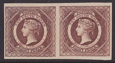 New South Wales : 1854 QV Diadem 8d imperf Plate  PROOF normal cat £30,000